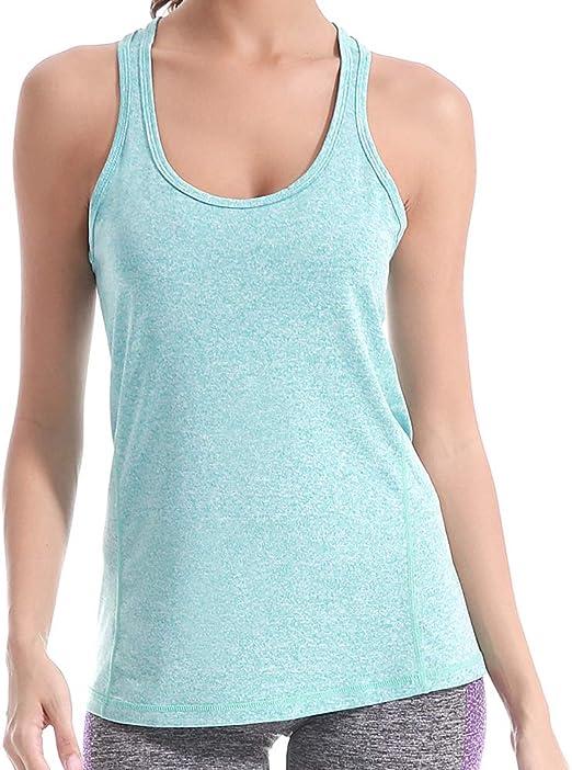 LIERKISS Workout Tank Tops for Women Yoga Shirt Activewear Sport Clothes