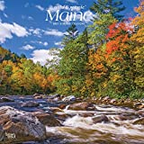 Maine Wild & Scenic 2021 12 x 12 Inch Monthly Square Wall Calendar, USA United States of America Northeast State Nature