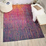 Nourison Passion Modern Abstract Colorful Multicolor Area Rug, 5'3' x 7'3'