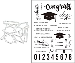 Sixinu Graduation Cap Metal Cutting Dies Stencils for DIY Scrapbooking Album Paper Card Crafts Embossing