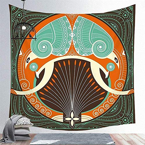 Yhjdcc Tapisserie Indische Mandala Polyester Tapisserie Wandbehang Teppich werfen...