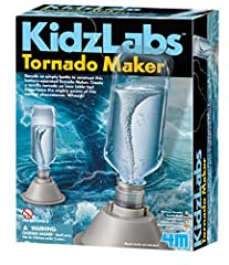 Recycle an empty bottle to construct this battery-operated Tornado Maker. Amaze friends and family with this mighty power of this natural phenomenon. With a plastic bottle filled with water, create a terrific tornado on any tabletop. Assemble the set...