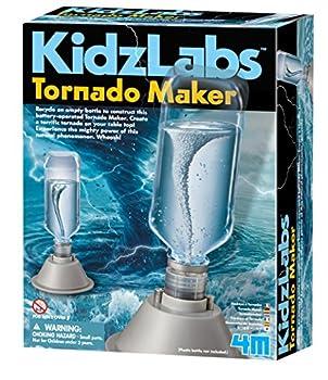 4M 5554 KidzLabs Tornado Maker Science Kit DIY Weather Cyclone Typhoon Hurricane Weather - STEM Toys Educational Gift for Kids & Teens Girls & Boys