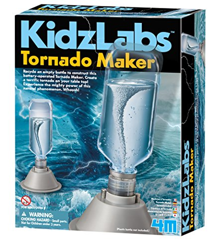 4M 5554 KidzLabs Tornado Maker Science Kit, DIY Weather Cyclone, Typhoon, Hurricane Weather - STEM Toys Educational Gift for Kids & Teens, Girls & Boys