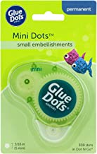 Glue Dots Mini Dot N' Go Dispenser with 300 (.375 Inch) Permanent Adhesive Dots (33583)