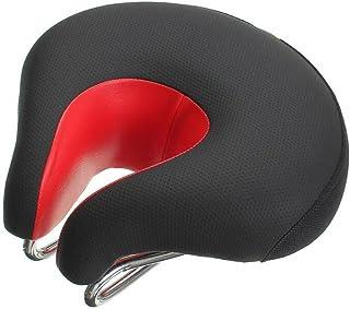 Poilee 自転車サドル ソフト 衝撃吸収 人間らしい設計 快適 サイクリング・平日ご利用可能 A038 (レッド)