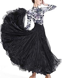 新品 モダンドレス 社交ダンスドレス ラテンドレス ロングスカート ダンスウエア 競技 デモ ダンス衣装 ワンピース