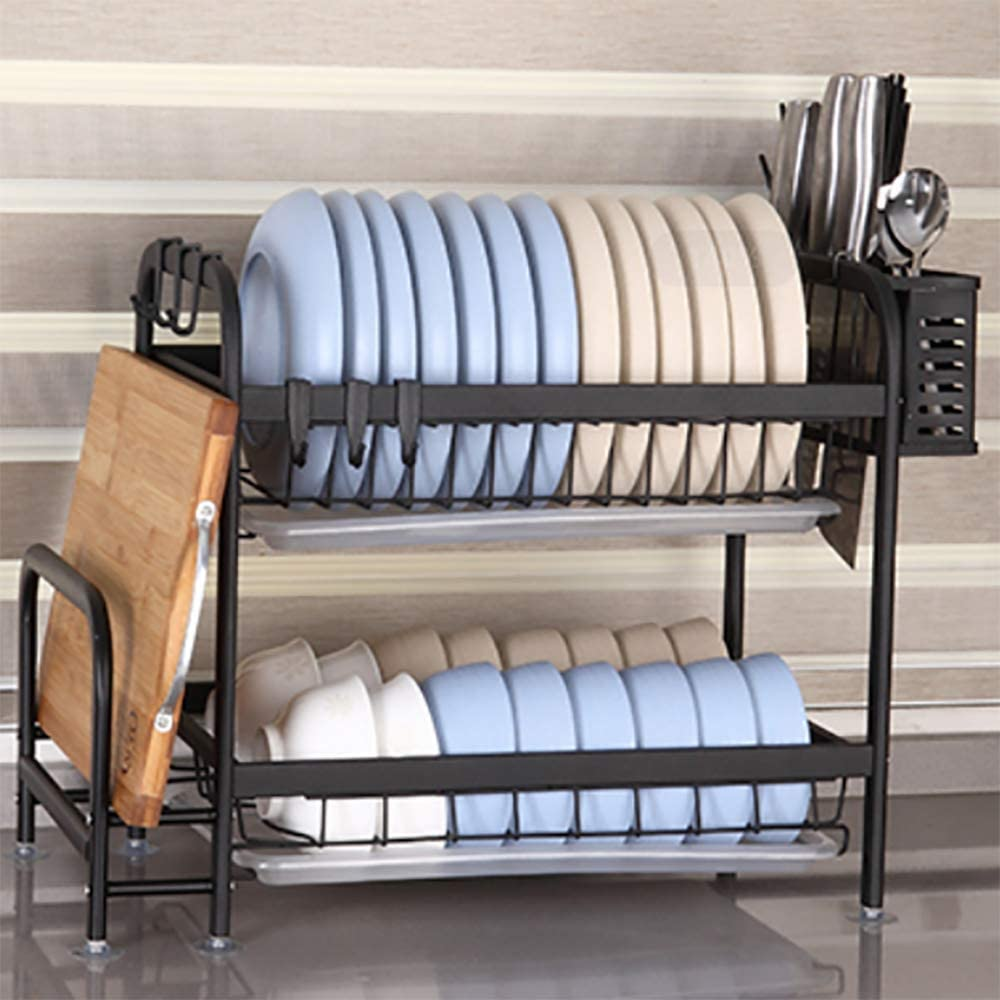 2-layer Max 54% OFF 304 stainless steel Financial sales sale dish di kitchen drain rack