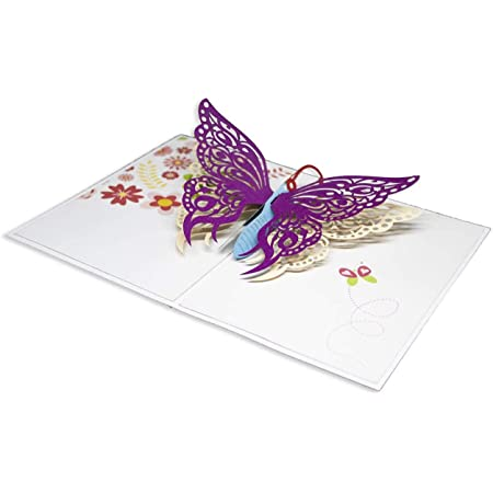 Biglietto di Auguri con Origami Color, Farfalla