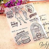 ホット販売ハンバーガークリアスタンプ/シリコーンシール花スタンプDIYスクラップブックアルバム/カードの生産