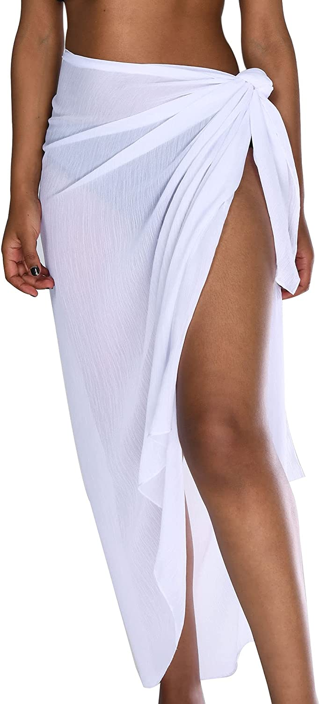 Camptrace Women Long Sarongs Beach Wrap Sheer Bikini Wraps Chiffon Cover Ups for Swimwear