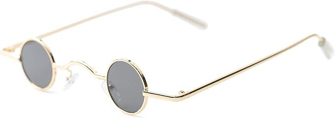 Steampunk Accessories | Goggles, Gears, Glasses, Guns, Mask Sopaila Vintage Round Polarized Hippie Sunglasses Small Circle Sun Glasses Steampunk  AT vintagedancer.com