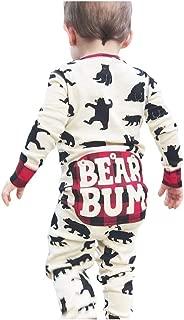 Baby Christmas Pajamas, Infant Newborn Baby Boy Girl Cotton Romper Bear Print Long Sleeve Bodysuit Jumpsuit