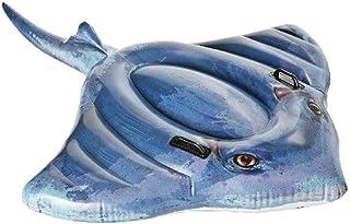 Intex 57550NP - Pez raya hinchable fotorrealista con 2 asas 188 x 145 cm