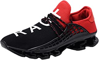 JJLIKER Mens Fashion Casual Walking Sneakers Slip On Mesh Comfort Breathable Blade Outdoor Sport Running Shoes