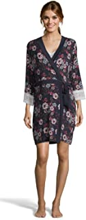 Womens Maternity Lounge Nursing V-Neck Nightgown Matching Belted Robe Pajama Set
