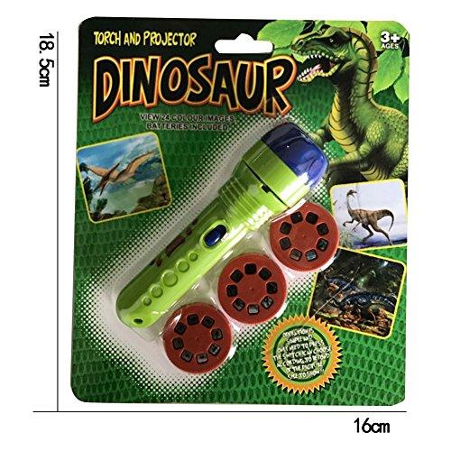 Kinder Projektor Taschenlampe, Taschenlampe Projektionslampe mit 3 Märchen 32 Folien, Kindertaschenlampe Projektionslampe für Kleinkind Junge Mädchen (Alte Dinosaurier)