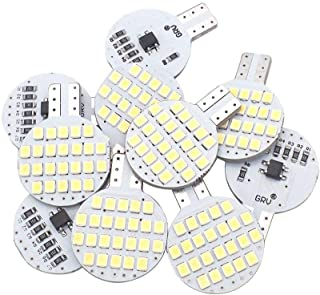 Grv T10 LED Light Bulb 921 194 192 C921 24-2835 SMD Super Bright Lamp DC 12V 2 Watt For Car RV Boat Ceiling Dome Interior Lights Cool White (2nd Generation) Pack of 10