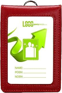 Kentop Porta badge verticale in pelle PU con cinturino rimovibile in nylon 11.2*7.5cm grigio