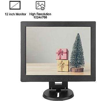 Bewinner Monitor de computadora de 12 Pulgadas Entrada VGA Pantalla TFT LCD de Alta resolución Pantalla de computadora para Monitor CCTV, Monitor de PC o Interior, Relación de Contraste: 700: 1(UE): Amazon.es: