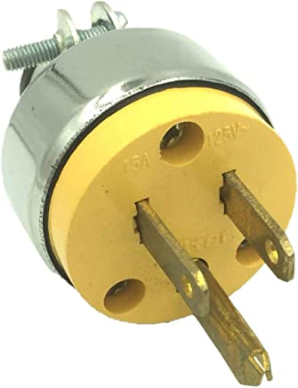 BRUFER 310101 Heavy Duty ARMORED Male Electrical Plug 3-Prong 125V 15A - 3 Wire