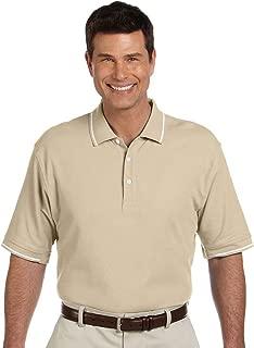 Devon & Jones Men's Pima Pique Short Sleeve Tipped Polo Shirt D113