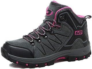 [TONGYANWUJI] トレッキングシューズ メンズ レディース ハイカット 軽量 ハイキングシューズ 厚い底 暖かい 防滑 登山靴 ハイシューズ 耐摩耗性 アウトドア スエード ハイシューズ ウォーキングシューズ 男女兼用 大きいサイズ