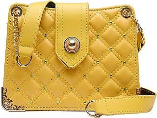Fanspack Lady Shoulder Bag Creative Rivets Diamond Pattern Crossbody Bag Messenger Purse