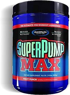 Gaspari Nutrition Super Pump Max, Fruit Punch, 1.41-Pounds by Gaspari Nutrition