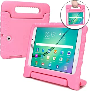 Cooper Dynamo [Rugged Kids Case] Protective Case for Samsung Tab S2 9.7 | Child Proof Cover Stand, Handle | T810 T811 T813 T815 T817 T819 (Pink)