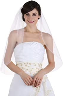 1T 1 Tier Plain Cut Edge Bridal Wedding Veil