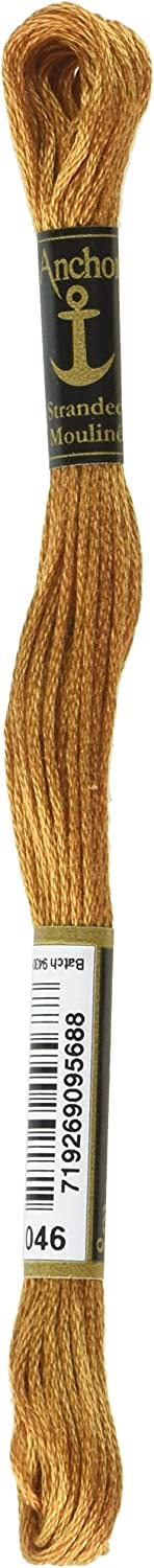 Anchor Six Strand Embroidery 2021 autumn and winter new Floss Box Yards-Toast 8.75 Max 79% OFF per 12