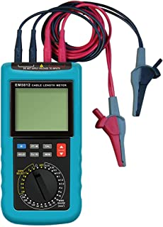 allsun Digital Electric Cable Resistance Tester Cable Wire Length Meter Ohm Resistance Meter Up to 30KM/100000 ft