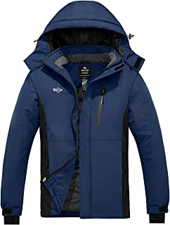 Wantdo Men`s Waterproof Ski Jacket Mountain Parka Outdoors Winter Snow Coat