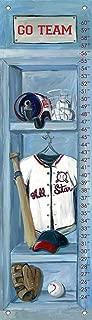 Oopsy Daisy Baseball Locker Growth Chart by Jones Segarra, 12 by 42-Inch