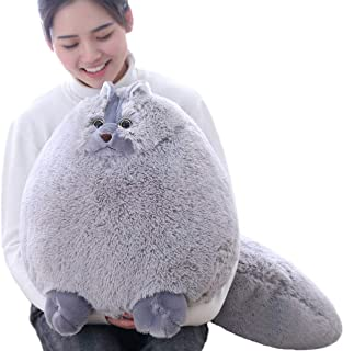 Winsterch Giant Cats Stuffed Animal Plush Cat Toys Pillow Kids Gifts Baby Doll,Gray,20 inches