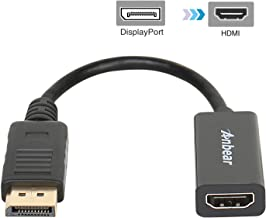 Display Port to HDMI,Anbear Displayport to HDMI Adapter Cable(Male to Female) for DisplayPort Enabled Desktops and Laptops to Connect to HDMI Displays Adapter