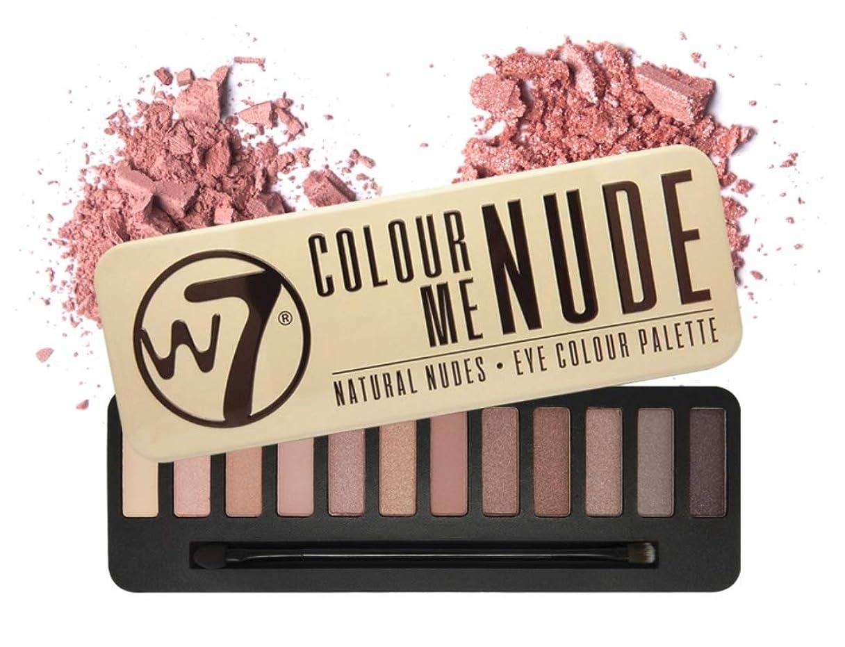 昼食誰が印象的W7 Delicious Nude Eye Colour Palette英国感性ビューティーブランド,実用的なデイリーメイクが可能なアイシャドウ、内蔵ブラシ含む(海外直送品)