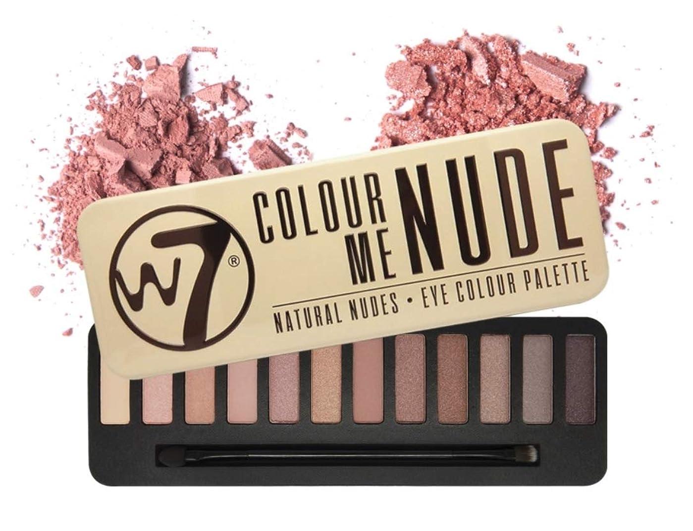 デンマーク語百年市の中心部W7 Delicious Nude Eye Colour Palette英国感性ビューティーブランド,実用的なデイリーメイクが可能なアイシャドウ、内蔵ブラシ含む(海外直送品)