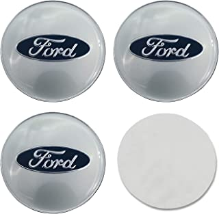 "EVPRO 65mm 2.56"" 4Pcs Wheel Center Hub Caps Sticker 3D Emblem Badge for Tire Decorative Fit for Ford Accessories"