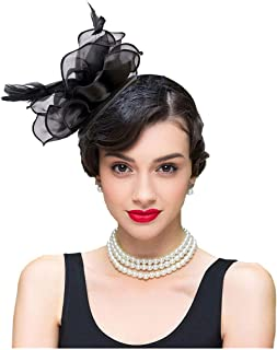 Headbands For Women Hair Accessories Fascinators Feather Hat For Wedding Party