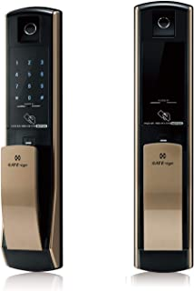 GATE-eye MSP330 Push-Pull Touchscreen Digital Door Lock, Inward -Opening Door, Passcode, Key Tag, Fingerprint, and Emergen...
