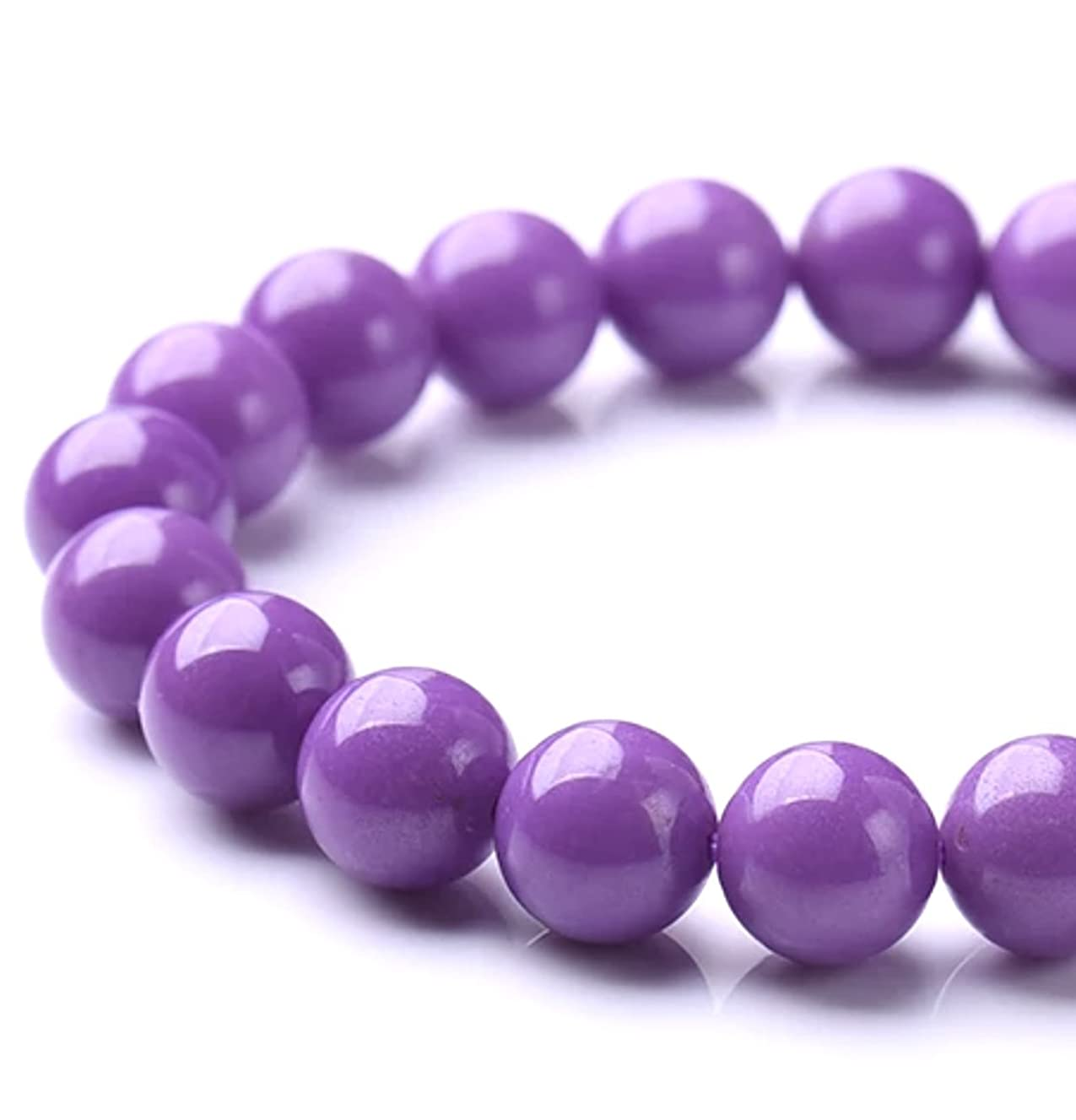 [ABCgems] Rare American Purple Phosphosiderite (Combination of Phosphorus and Iron- Grade AAA) Tiny 4mm Smooth Round Beads for Beading & Jewelry Making