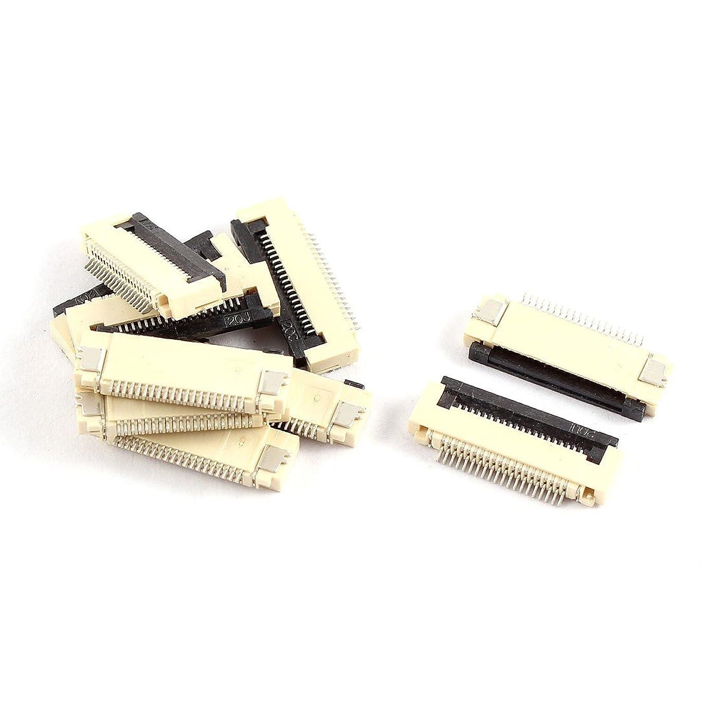 ジェットサラダ慰めuxcell フレキシブルフラットケーブルコネクタ 0.5mmのピッチ 20ピン 10個入り
