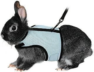 UEETEK Arnés suave con plomo para los conejos mascotas
