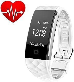 GXSLKWL IP67 Waterproof Fitness Tracker, Bluetooth Smart Watch Heart Rate Monitor Smart Bracelet Activity Tracker Watch Pe...