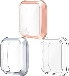 KIMILAR Hülle Kompatibel mit Fitbit Versa Lite Schutzhülle (Nicht für Versa/Versa 2),[3 Stück] Vollständige Abdeckung TPU Cover Case Schutzfolie für Versa Lite Special Edition Smartwatch