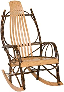 Peaceful Classics Amish Made Hickory Rocker - Solid Wood