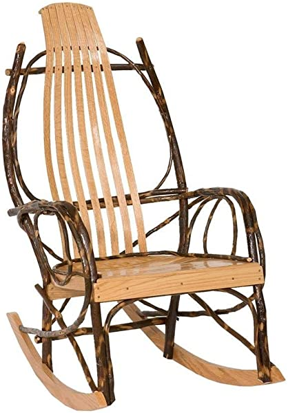 Peaceful Classics Amish Made Hickory Rocker Solid Wood