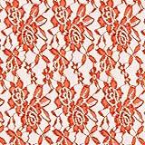 Fabulous Fabrics Spitze rotorange, Blume, 150cm breit –
